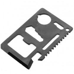 Carte multifonctions en métal noir