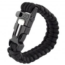 Bracelet pierre à feu en paracorde avec sifflet