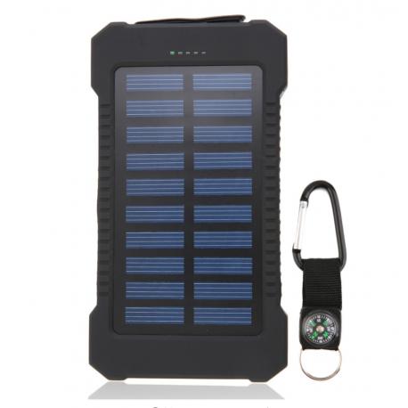 Batterie solaire résistante à l'eau 30000mAh double usb