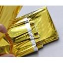 Couverture de survie côté or et argent